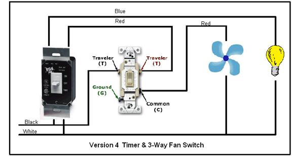 light for bathroom exhaust fan wiring diagram